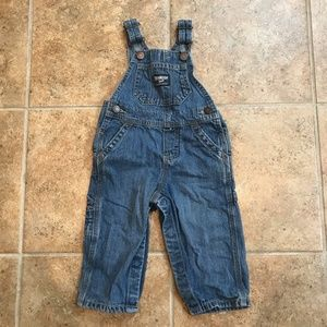 OshKosh Denim Vest Back Overalls